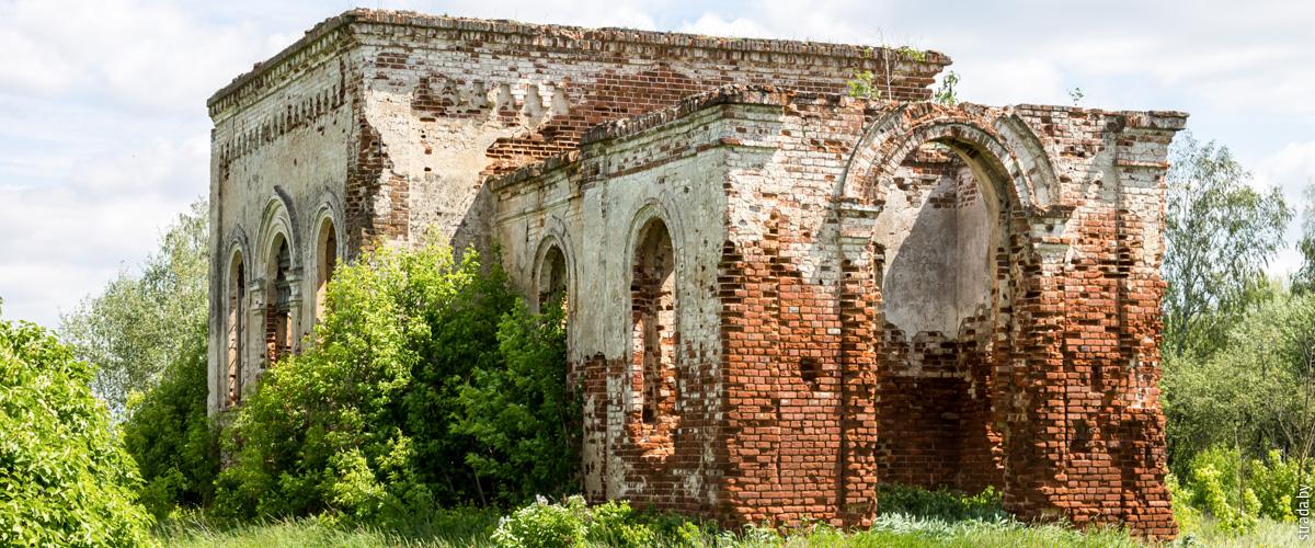 Руины церкви в Красной Слободе