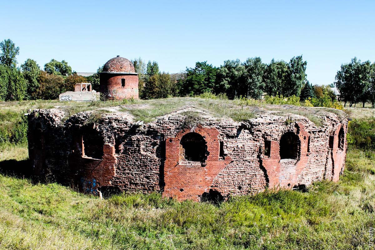 Бобруйская крепость: редюит с капониром в горже равелина