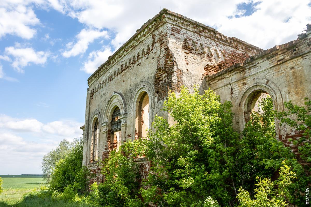 Руины церкви, Красная Слобода, Жлобинский район, Гомельская область