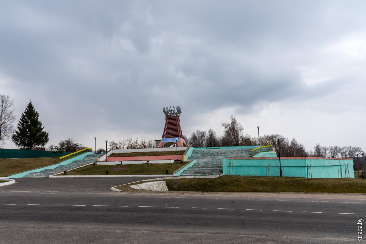 Памятник выселенным деревням, Чечерск, Чечерский район, Гомельская область