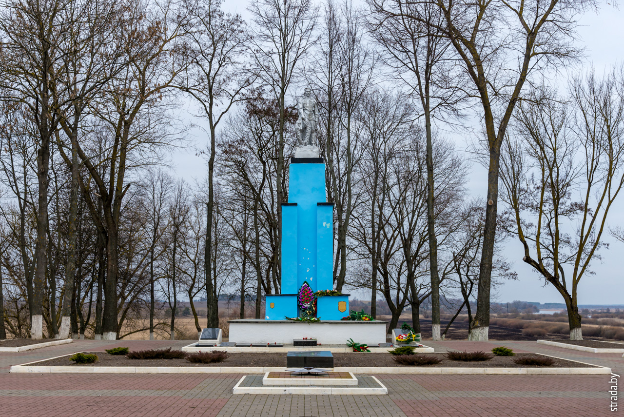 Памятник советским воинам и партизанам, Чечерск, Чечерский район, Гомельская область