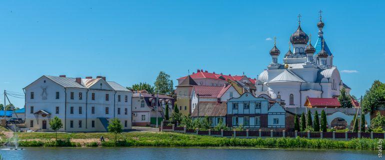 Поставы: город, костёл, церковь и дворец Тизенгауза